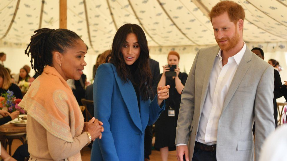 Meghan was joined be her mother, Doria Ragland, and Prince Harry for the cookbook launch