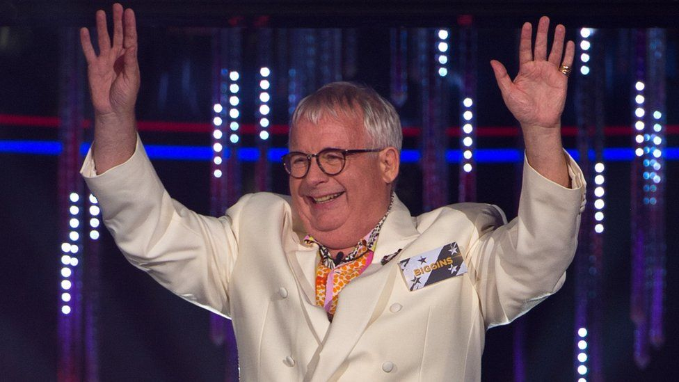Christopher Biggins is all smiles as he enters the house in July 2016