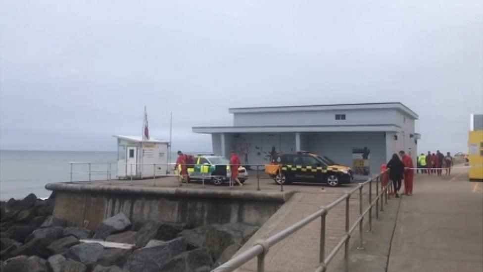 Emergency services at Sheringham
