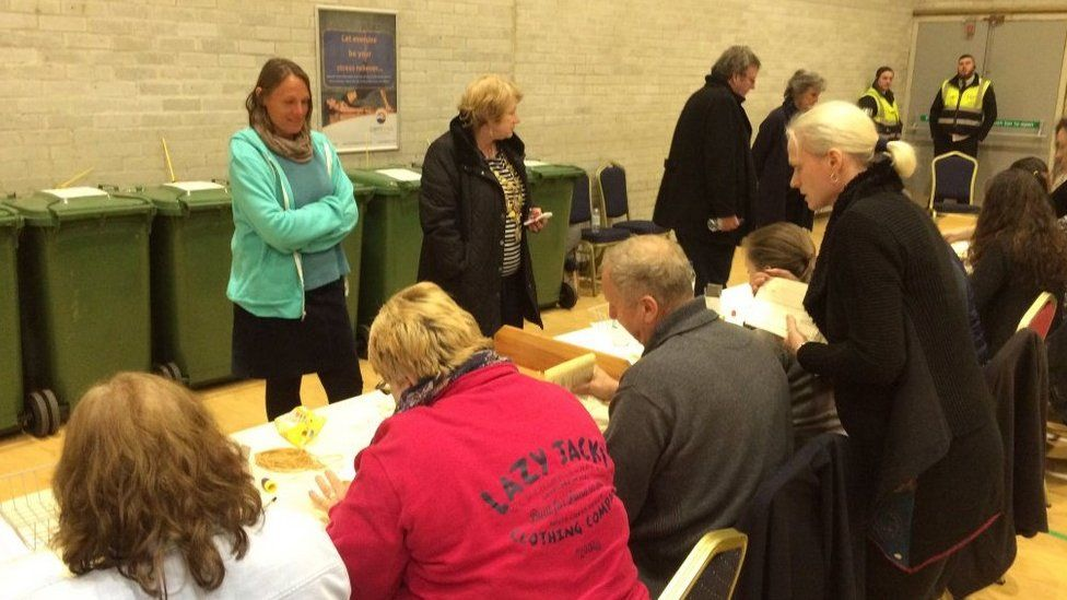 Counting votes in Carn Brea