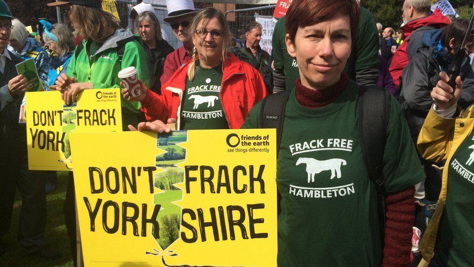 Anti fracking protestors awaiting N Yorks planning decision