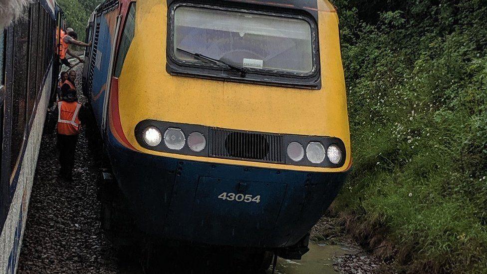 Train stranded near Corby tunnel