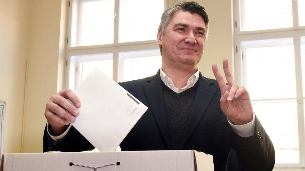 Prime Minister Zoran Milanovic votes in Zagreb - 8 November