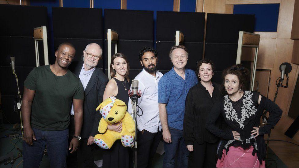 Stars recording the Children In Need album