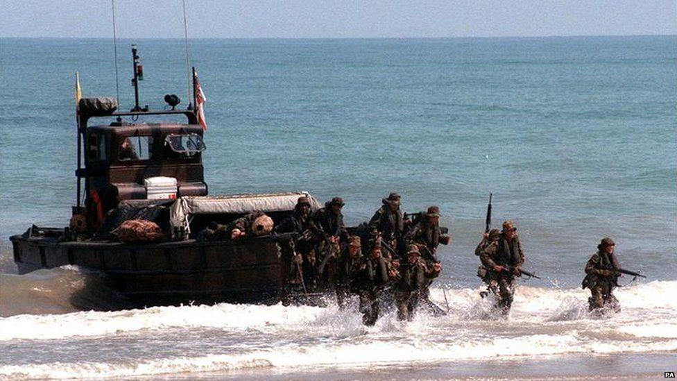 Marines at La Linea instead of Gibraltar