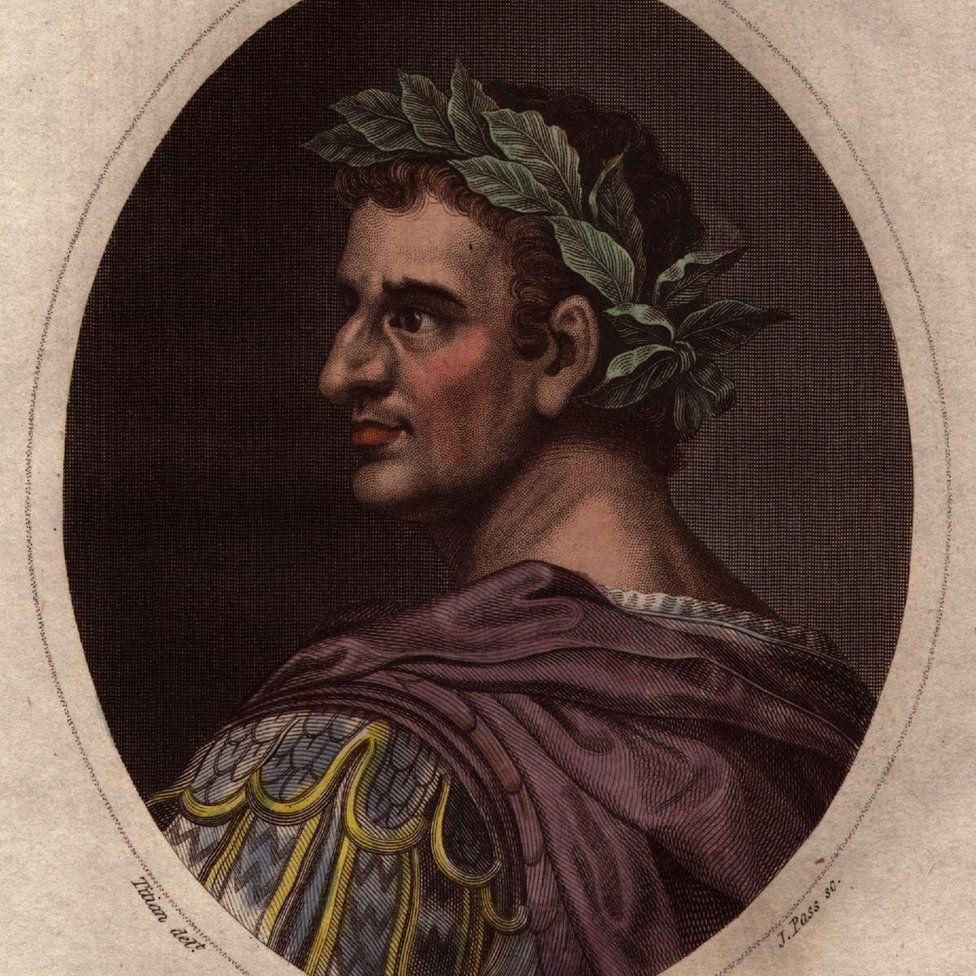 Roman emperor Tiberius Caesar