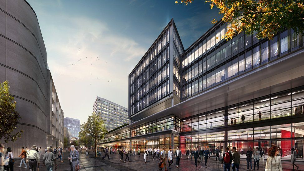 Artist impression of how Cardiff's new transport interchange was due to look