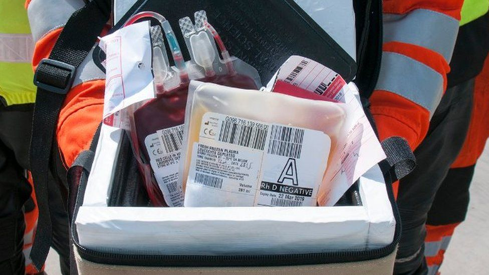The blood bags