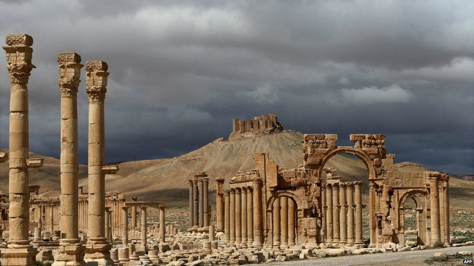 A partial view of the ancient city of Palmyra in Syria - 14 March 2014