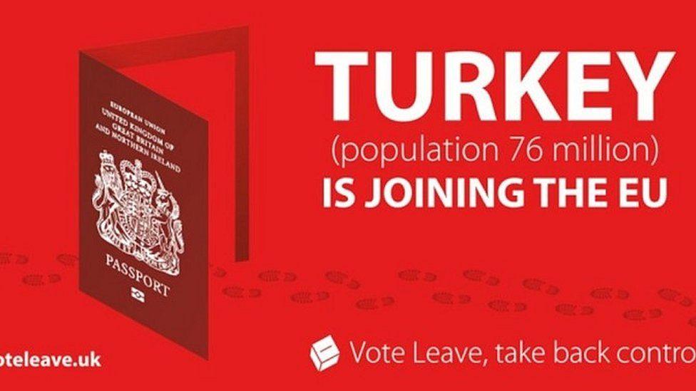 Vote Leave leaflet during the 2016 referendum