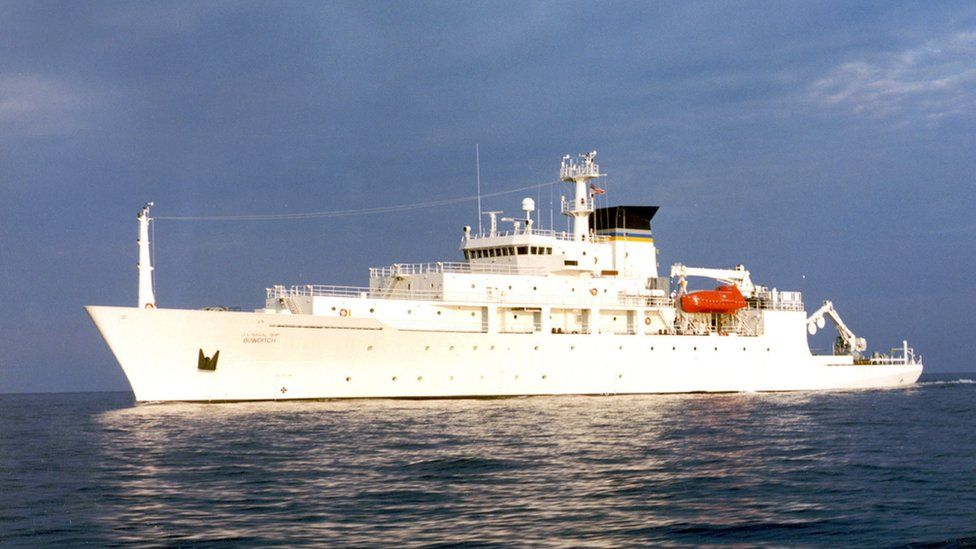 In this undated file photo released by the U.S. Navy Visual News Service, the USNS Bowditch, a T-AGS 60 Class Oceanographic Survey Ship, sails in open water.
