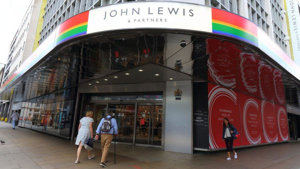 Two people walk into a John Lewis