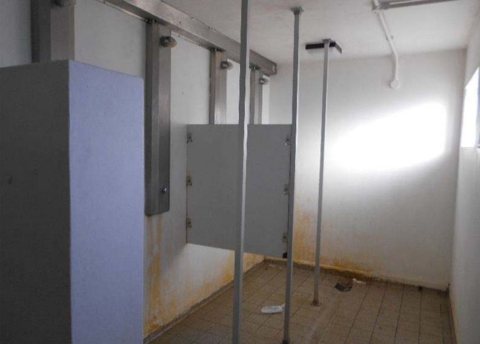 Showers at HMP Onley