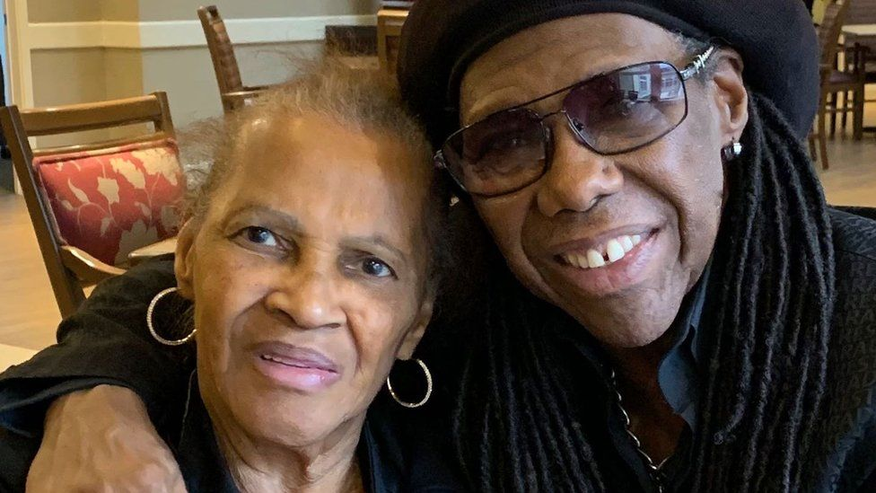 Nile Rodgers and mother Beverly