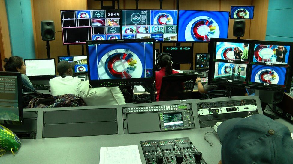 A view of a TV gallery