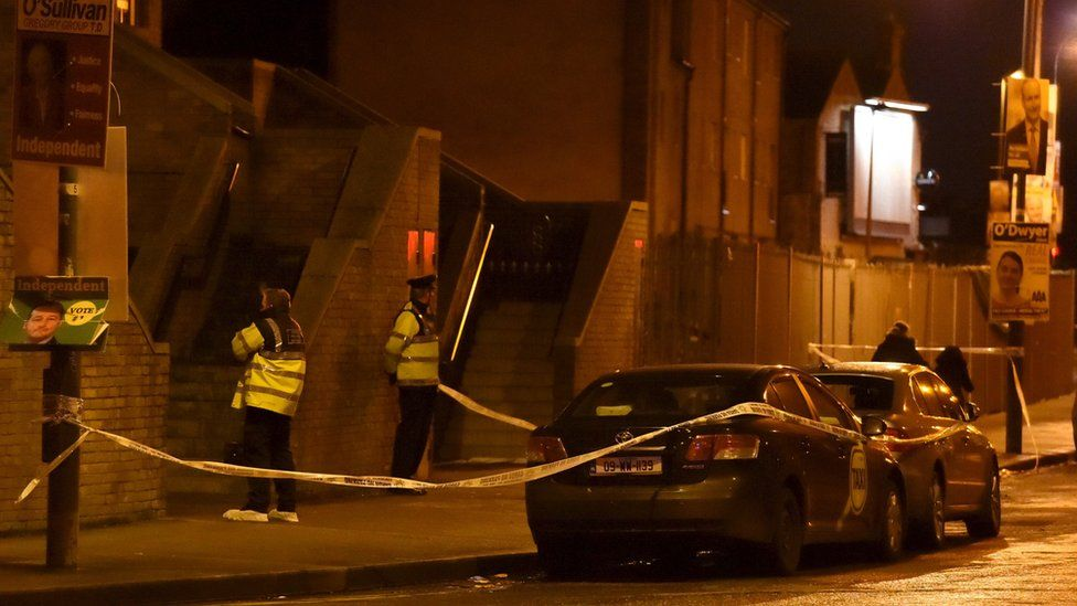 The shooting happened in north Dublin at 19:45 GMT on Monday