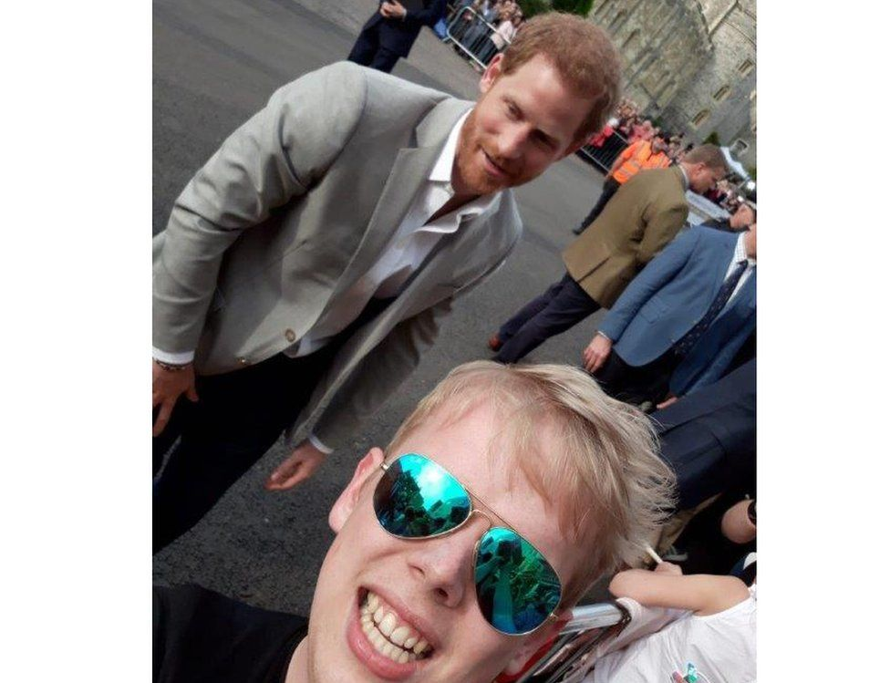 Geoffrey Somers, from Gent in Belgium, shared this selfie with Prince Harry