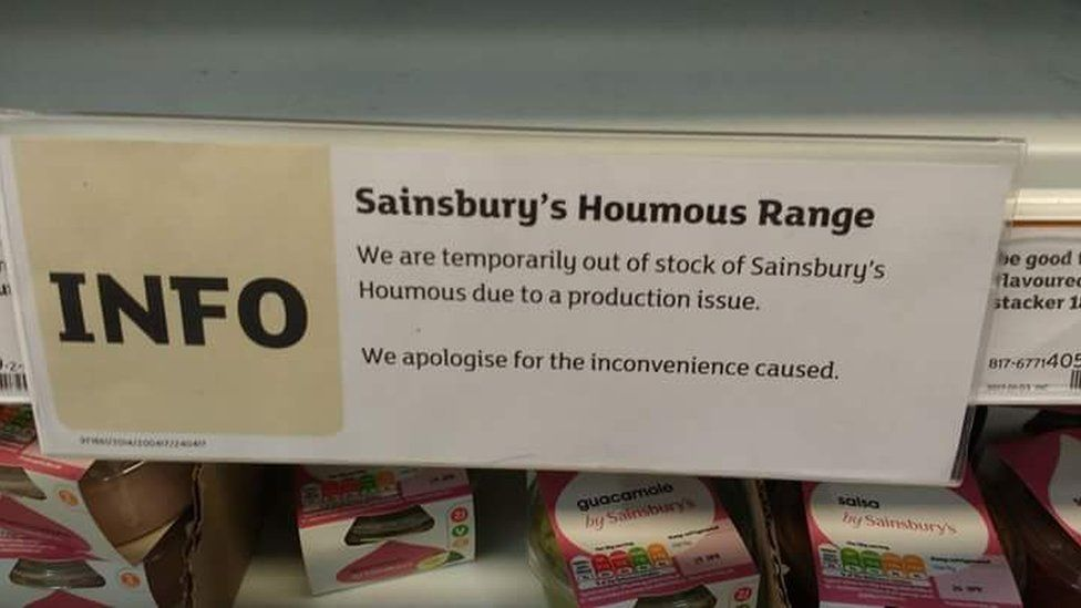 hummus sainsbury's sign