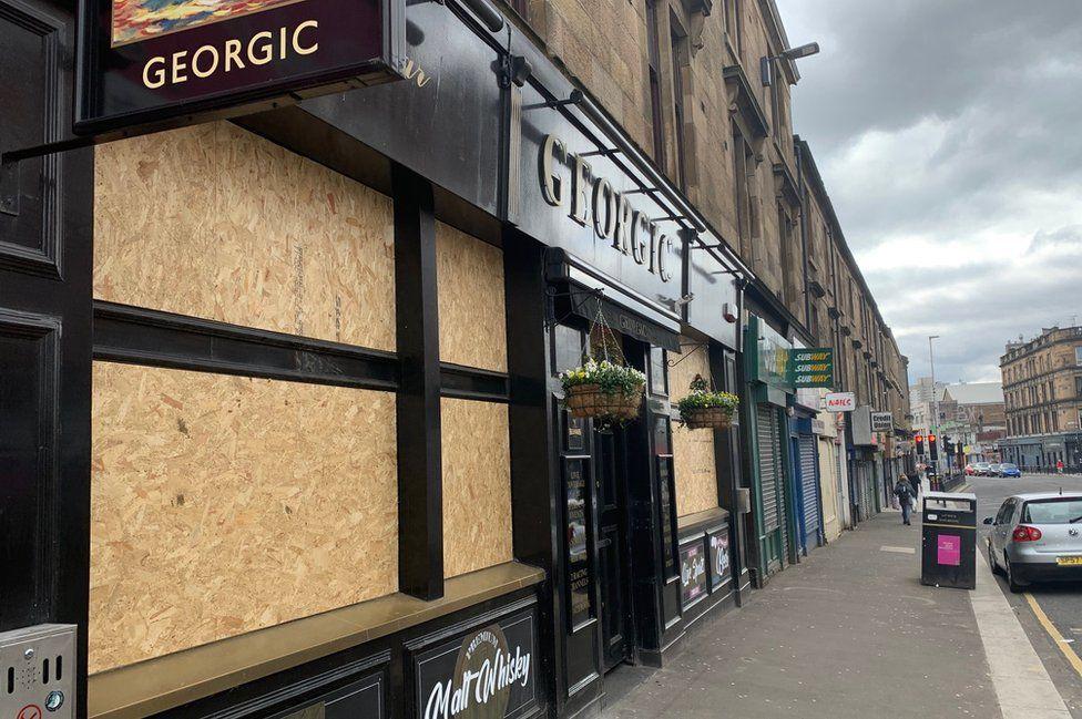 The Georgic bar in Glasgow
