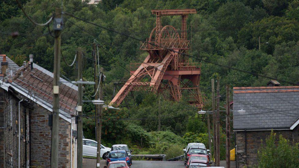 Former coal mine in the Rhondda Valley
