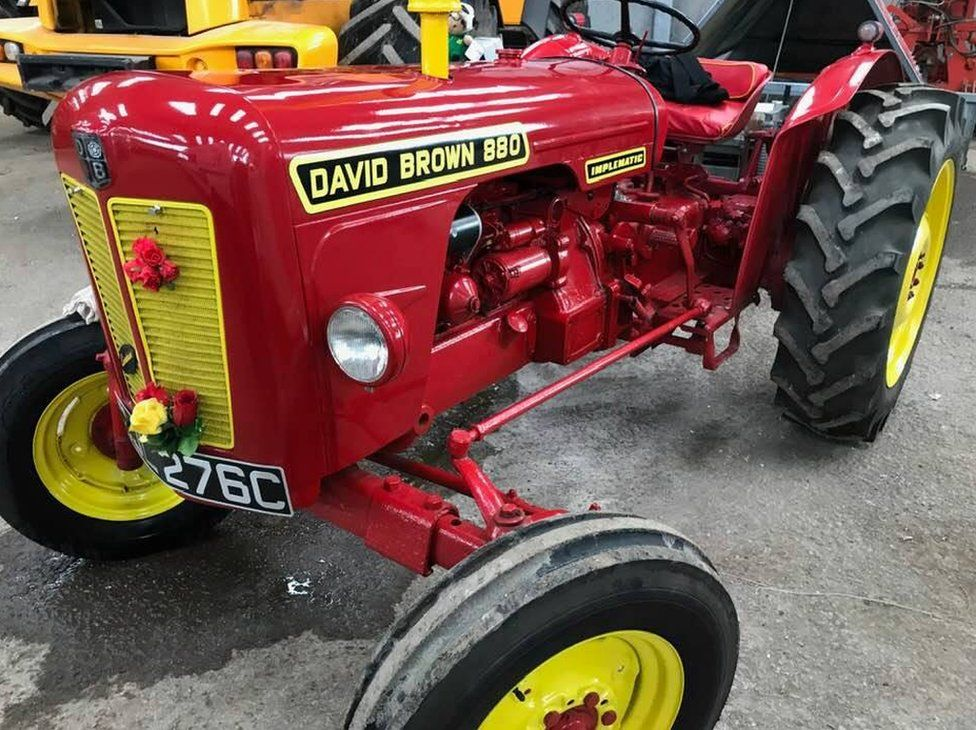 1965 vintage red tractor