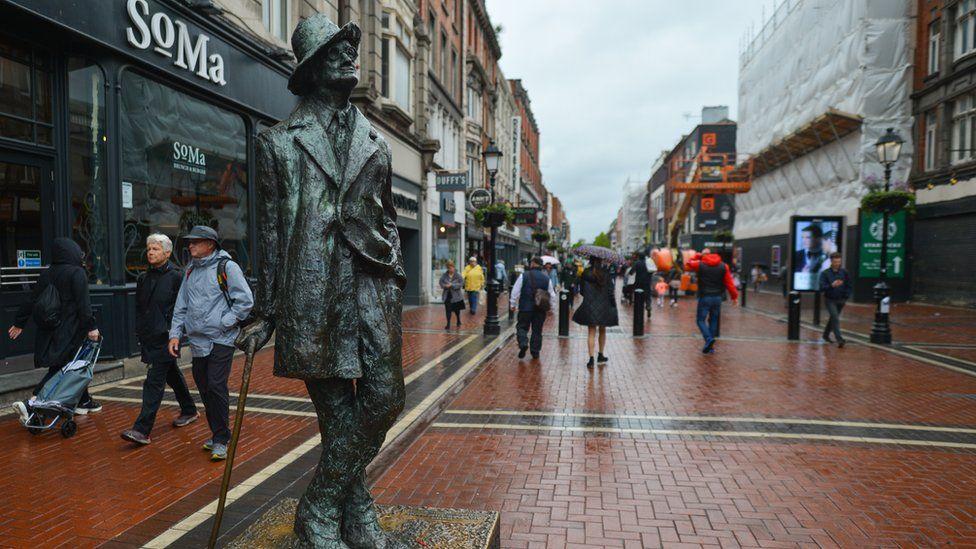 James Joyce statue in central Dublin