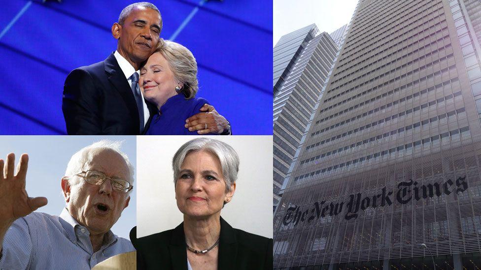 Barack Obama, the New York Times, Jill Stein and Bernie Sanders