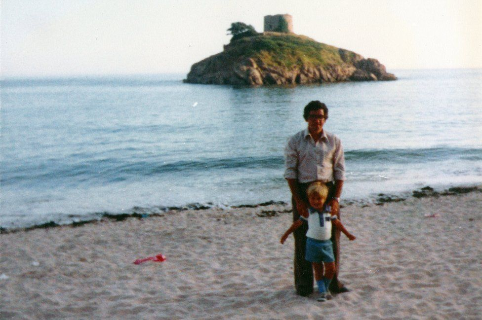 Don on holiday with Iain in Jersey