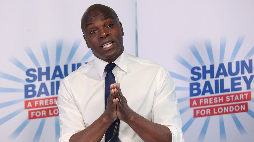 Conservative London mayoral candidate Shaun Bailey during his manifesto launch