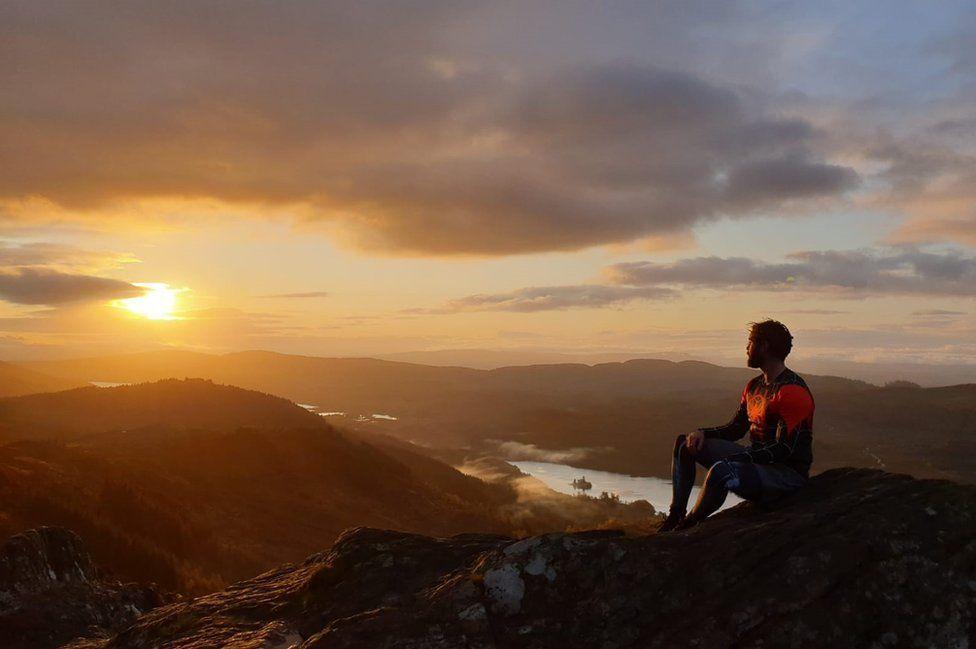 Sunrise at Loch Achray from Ben A'an