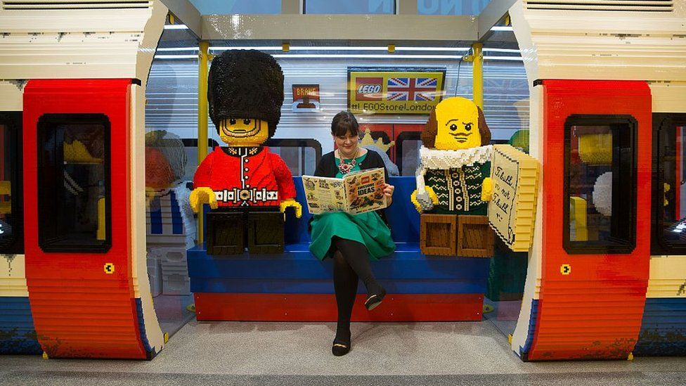 London Underground tube train carriage made with LEGO pieces