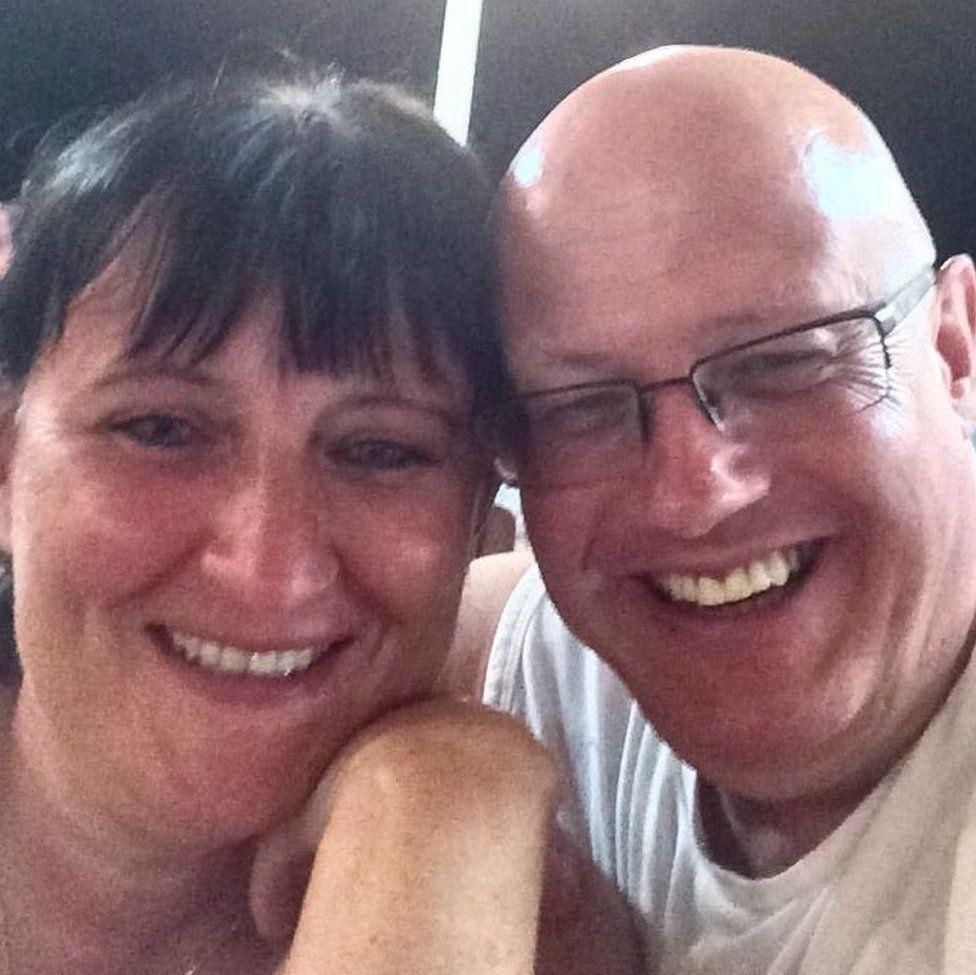 Janet Scott and her husband Chris Scott