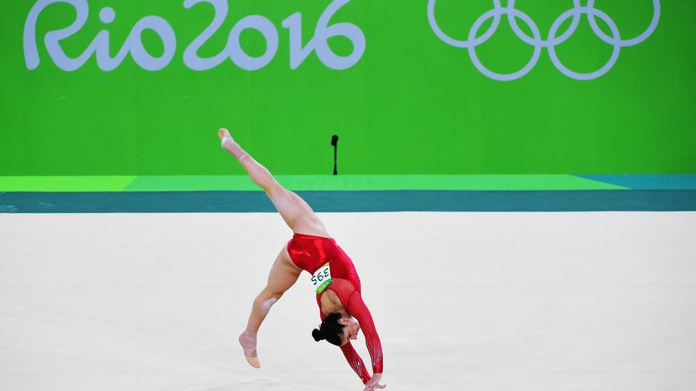 Alexandra Raisman at the 2016 Olympics in Rio