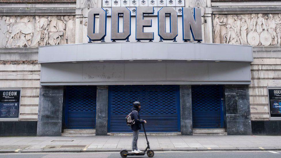 A closed Odeon cinema