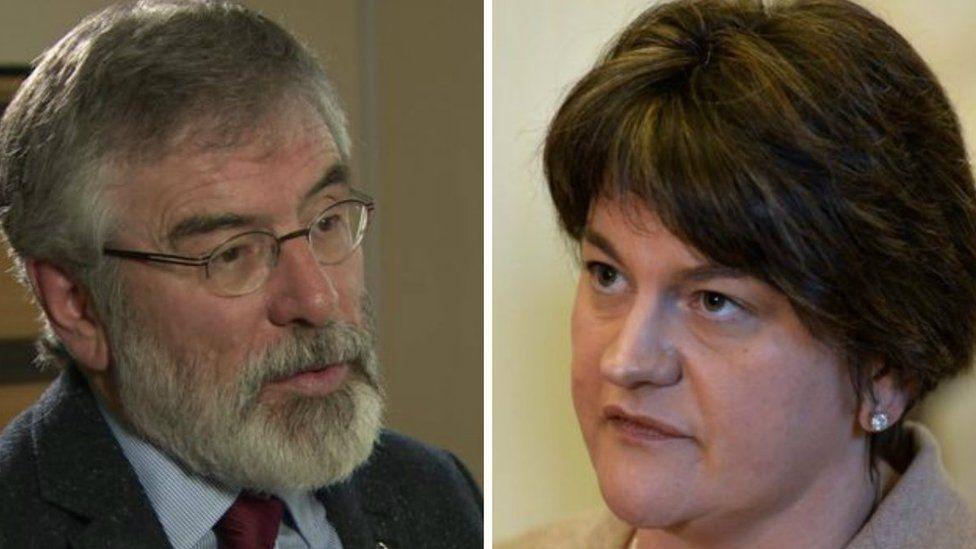 Gerry Adams and Arlene Foster