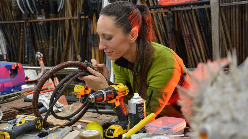 Natalia Lee in the workshop