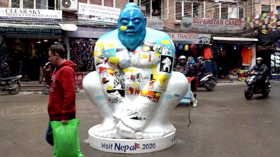 Visit Nepal's yeti logo in Kathmandu