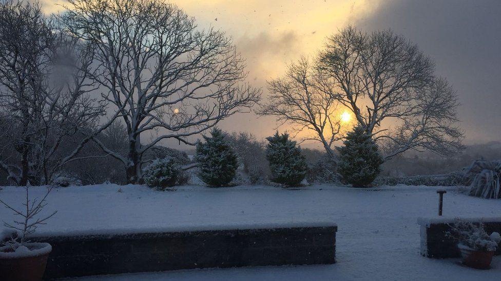 Snow near Downpatrick County Down