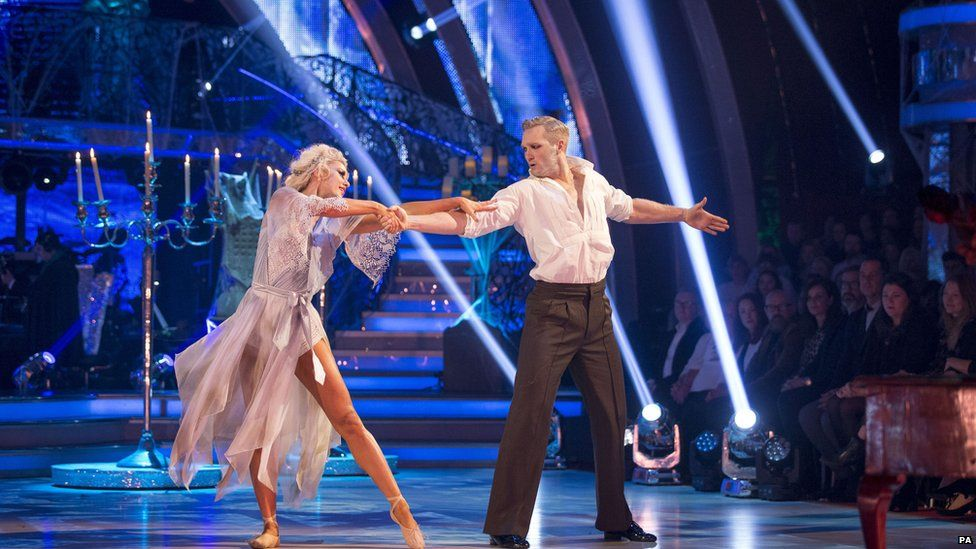 Greg Rutherford dances with Natalie Lowe