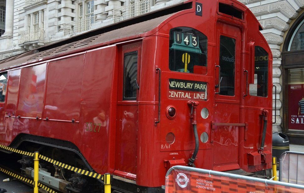 Old Tube train carriage