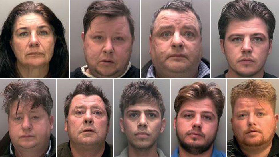 Top row (l to r) Bridget Rooney, Gerald Rooney, John Rooney, John Rooney. Bottom row (l to r) Lawrence Rooney, Martin Rooney Snr, Martin Rooney, Patrick Rooney, Peter Doran