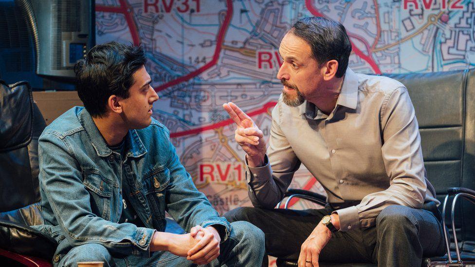 Karan Gill (Shazad) and Nicholas Khan (Raf) in Approaching Empty