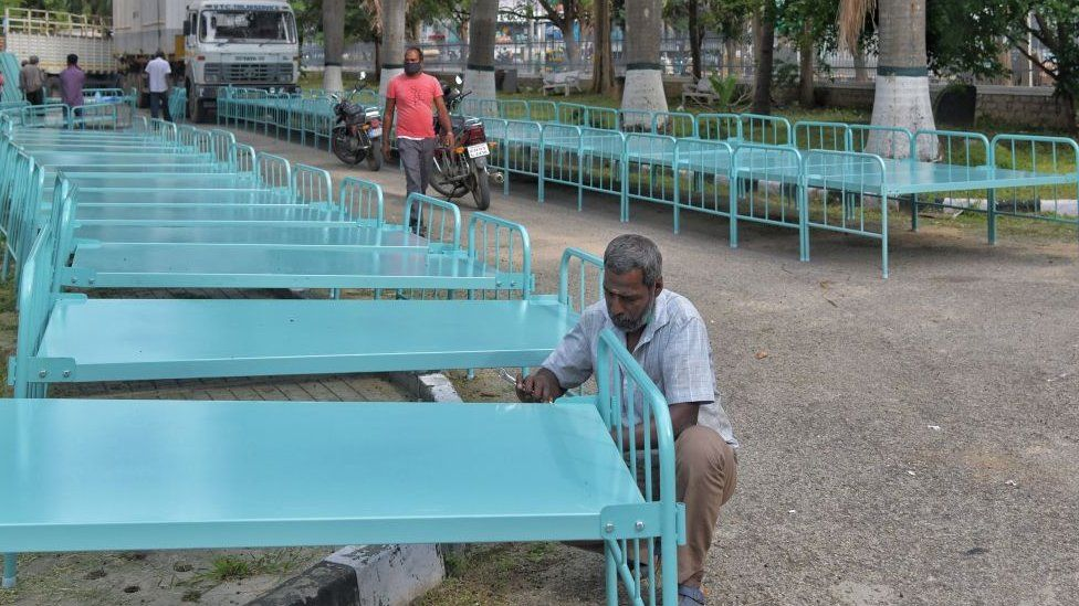 Extra beds being made in Bangalore