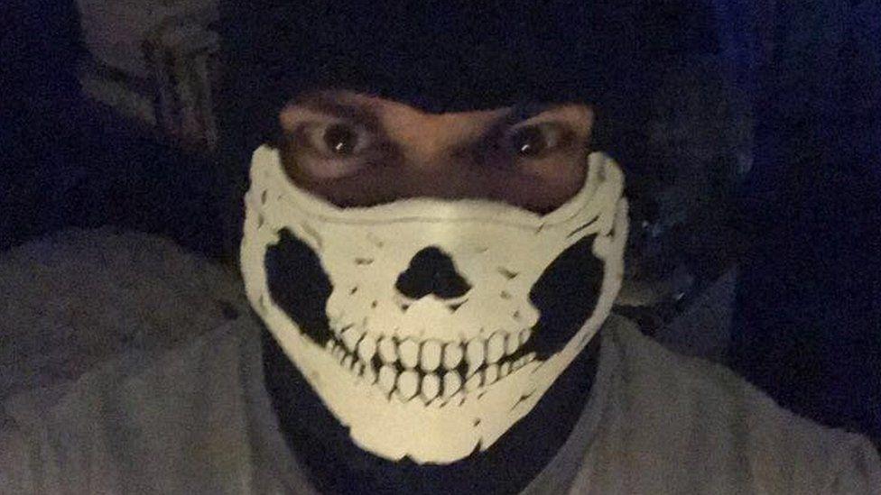 Dymock in mask