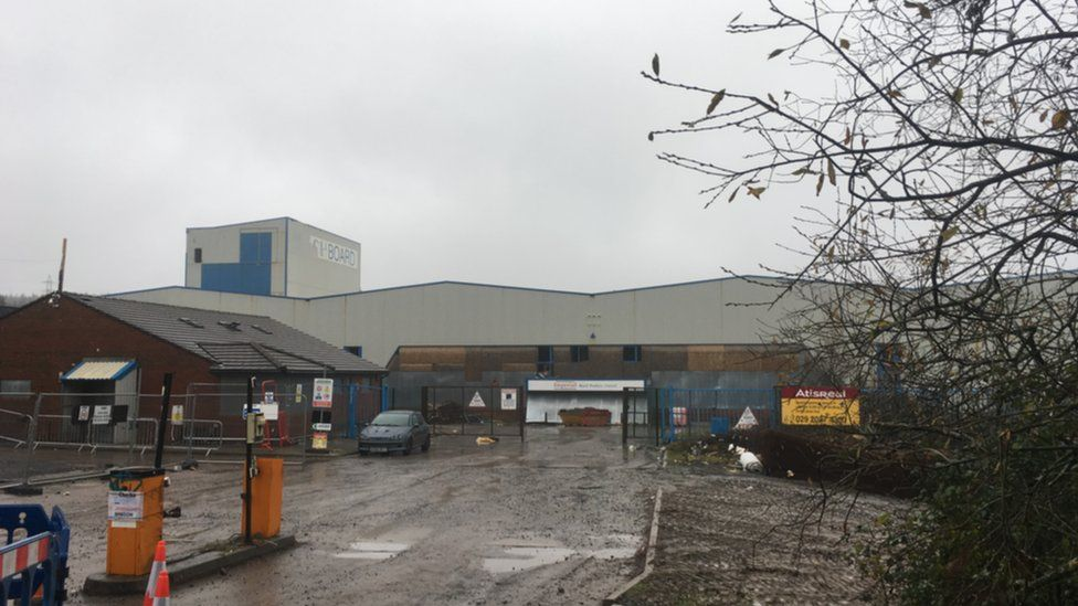 The site of the factory a year ago