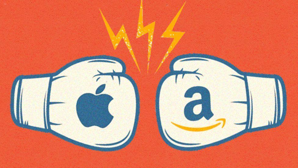 Apple contra Amazon: la batalla de titanes de los gigantes del billón de dólares