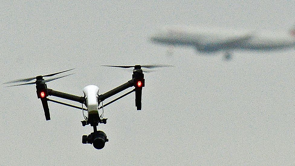 Drone and plane