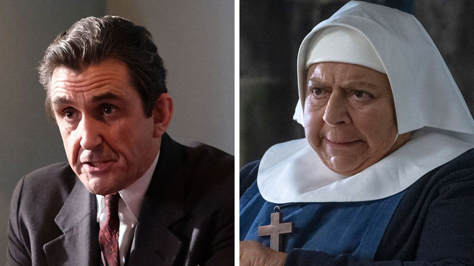 Stephen McGann and Miriam Margolyes in Call the Midwife