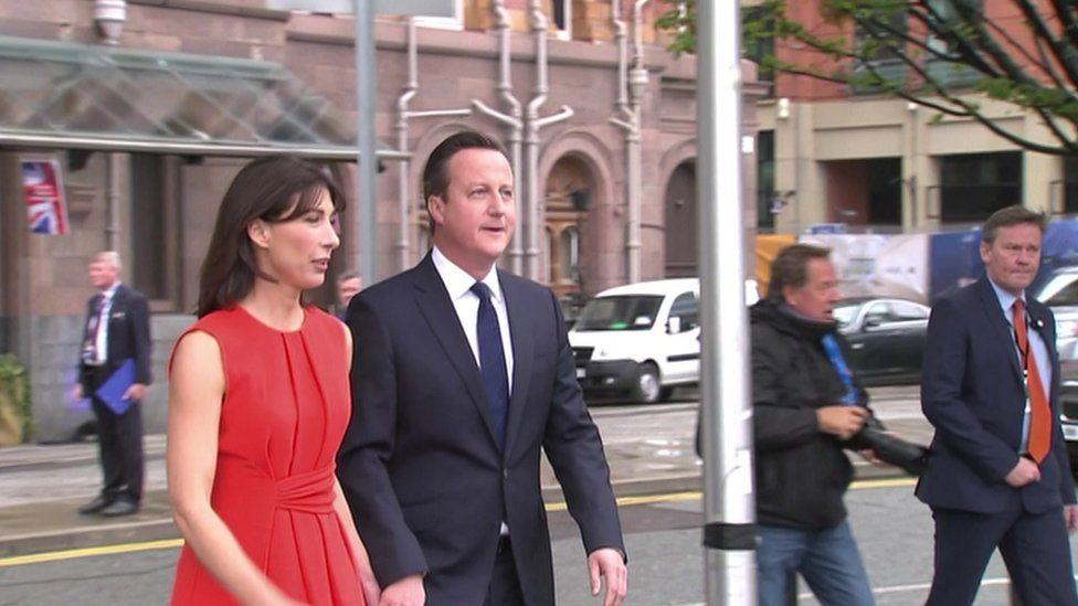 David Cameron arrives