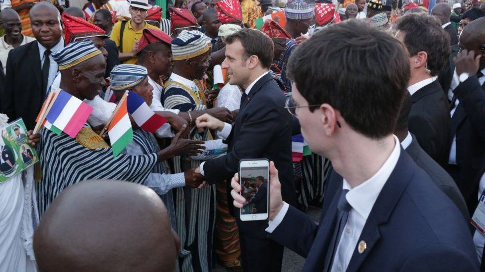 President Macron in Ivory Coast